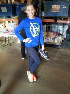 OC Rescue Mission runner modeling her new shoes