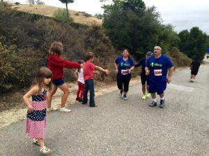 David is nearing the finish of the Laguna Hills Half Marathon in May, 2015.