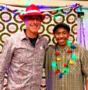Coach Greg and Eddie from the Orange County Rescue Mission.
