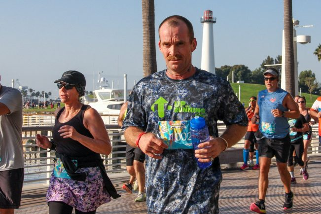 runner at Long Beach Half Marathon